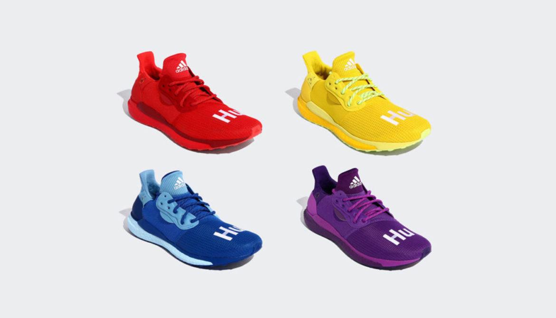 Pharrell x Adidas Solar Hu Glide Rainbow Pack