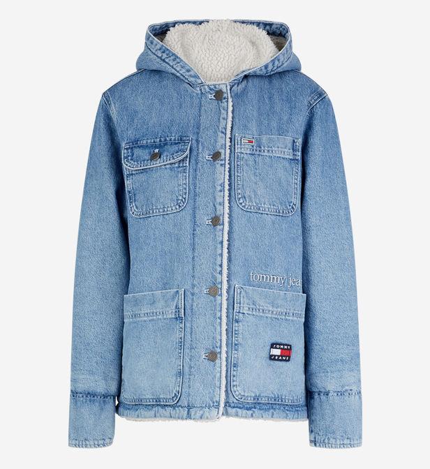 manteau en jean tommy hilfiger