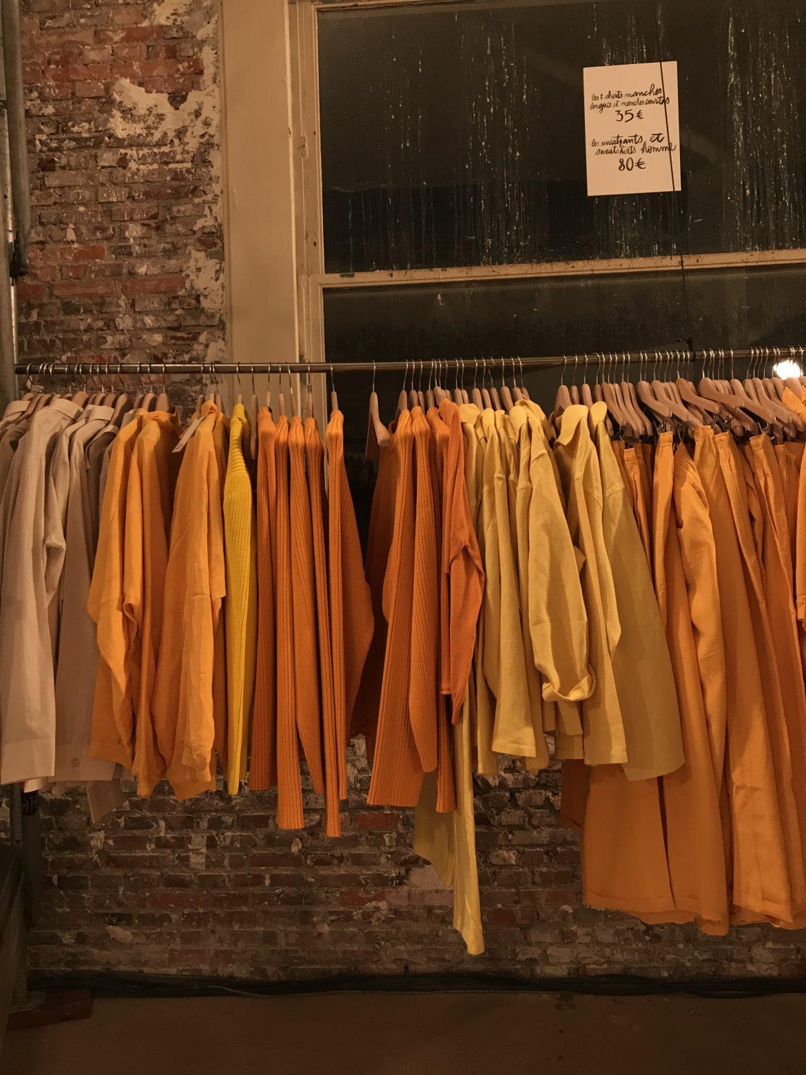 Pièces d'archive jacquemus orange jaune