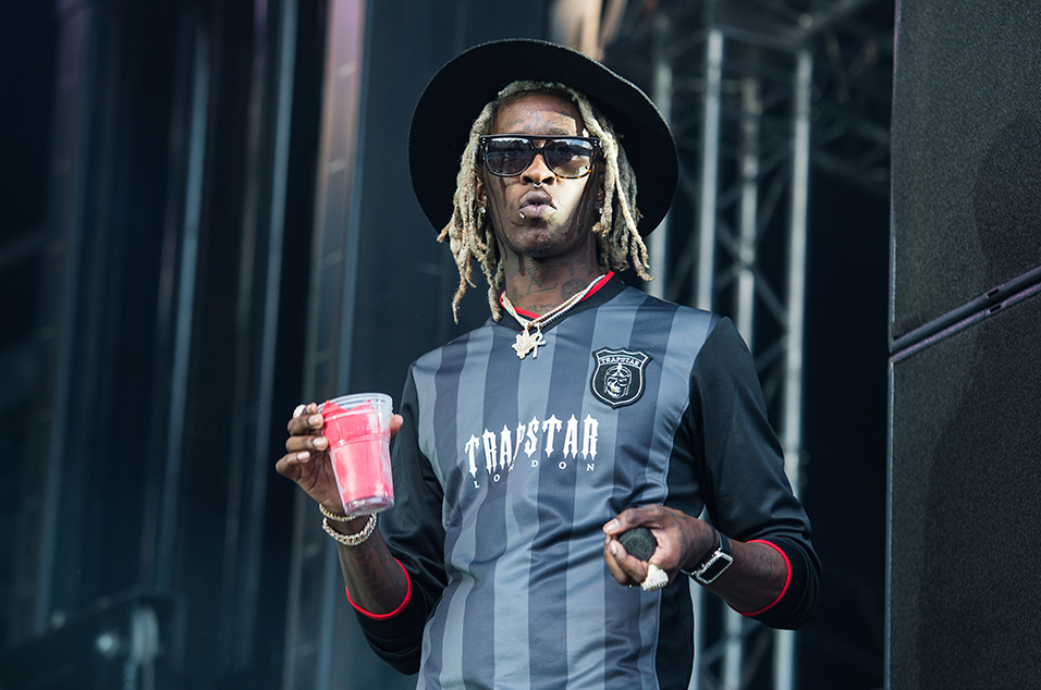 Young Thug lean