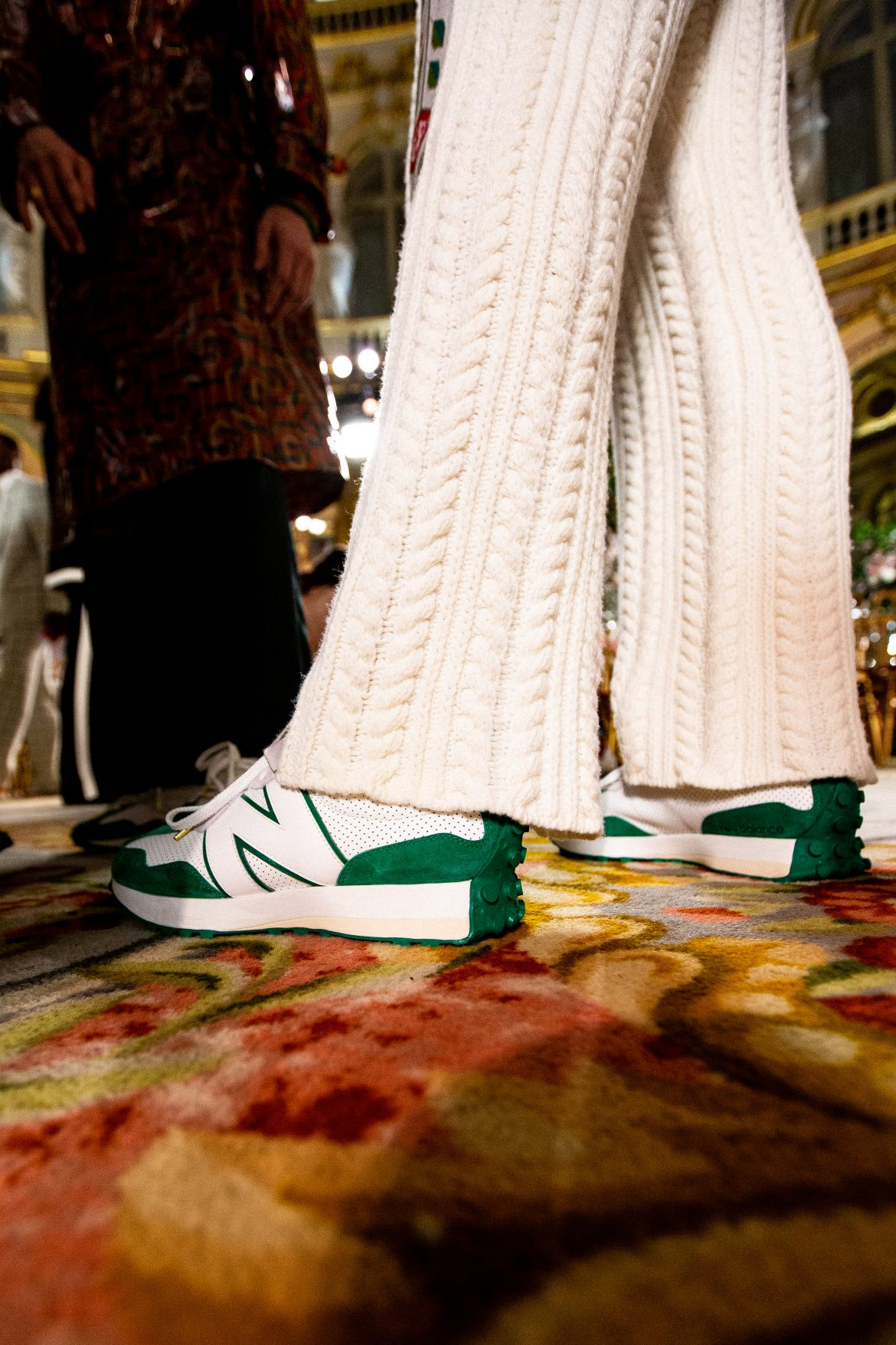 New Balance 327 Casablanca vert verte blanc beige crème A/W20 2020 PFW20