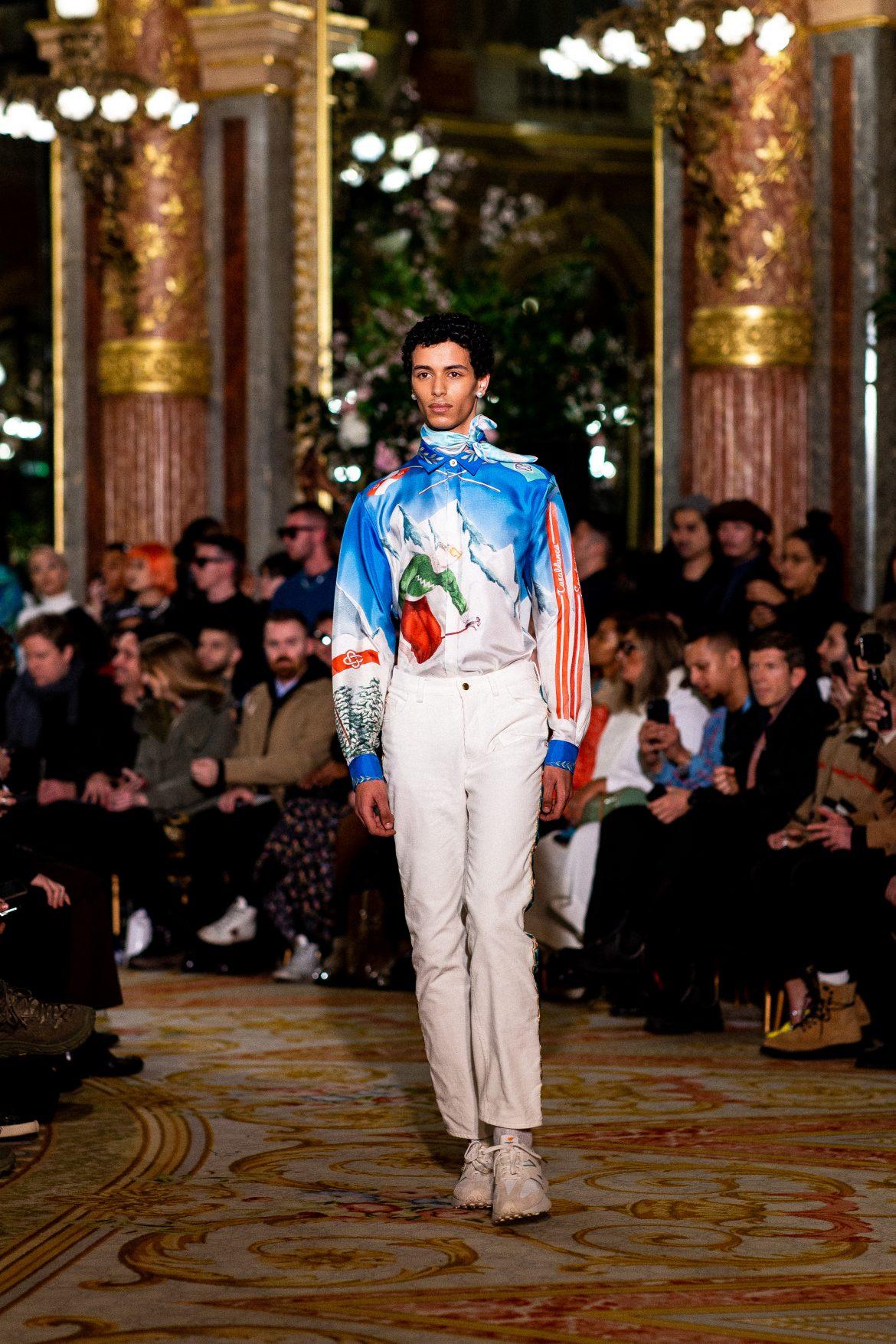 mannequin Casablanca A/W20 Paris Fashion Week 2020 PFW20