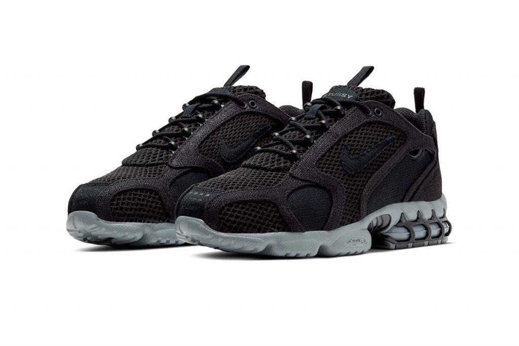 Stussy x Nike Air Zoom Spiridon Caged 2 Black Cool Grey
