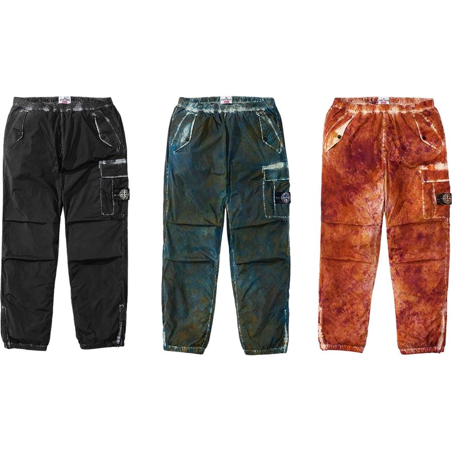 Supreme/Stone Island Painted Camo Nylon Cargo Pant