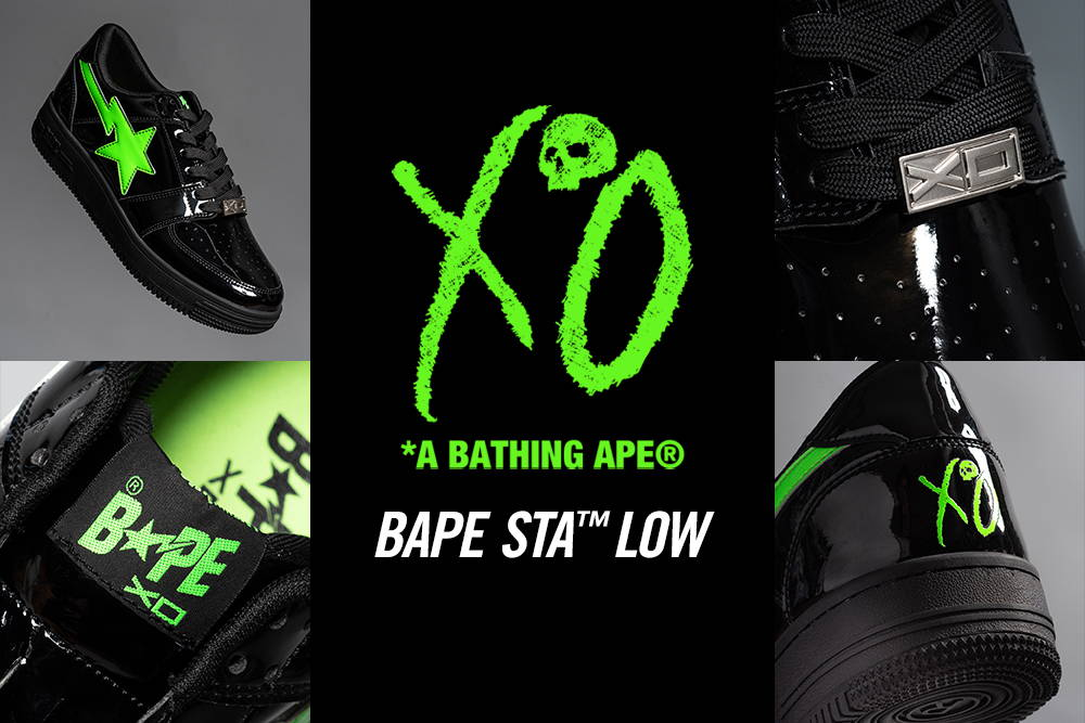 XO x BAPE Bapesta Black