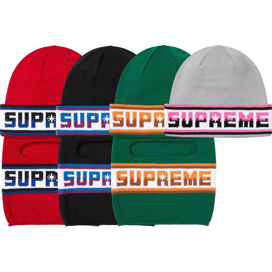 Supreme Double Logo Facemask Beanie