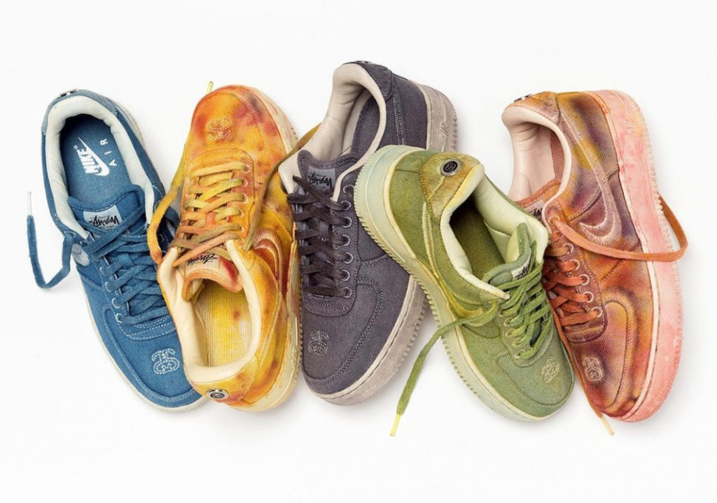 Stussy x Nike Air Force 1 Hand-Dyed